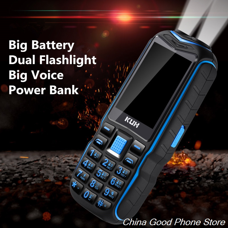 KUH Big Battery Rugged Mobile Shockproof Waterproof Cell Big Voice Big Key Big Font Dual Sim Vibration Dual Flashligt Phone|Cellphones| |  - title=