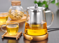 Promotional anti burst heat resistant glass flower tea pot kung fu red teapot with have stainless.jpg 250x250