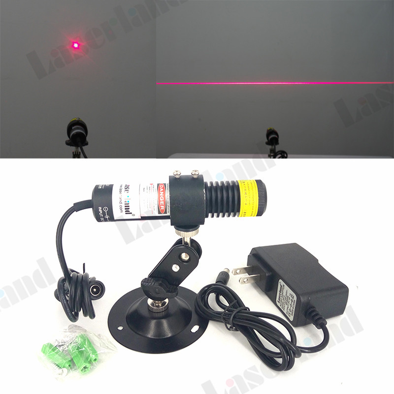 22*100mm 648nm 650nm 50mW 100mW 200mW Dot Line Red Laser Diode Module Locator for Wood Fabric Stone Cutting + adapter + mount
