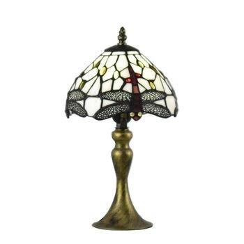 Weihnachtsbeleuchtung Zu Verkaufen   Tiffany Stil Lampen Libelle Nacht Licht 8 Zoll Kleine Glasmalerei Blau Tisch Lampe Beleuchtung 15 Zoll Höhe Antike Auf Verkauf