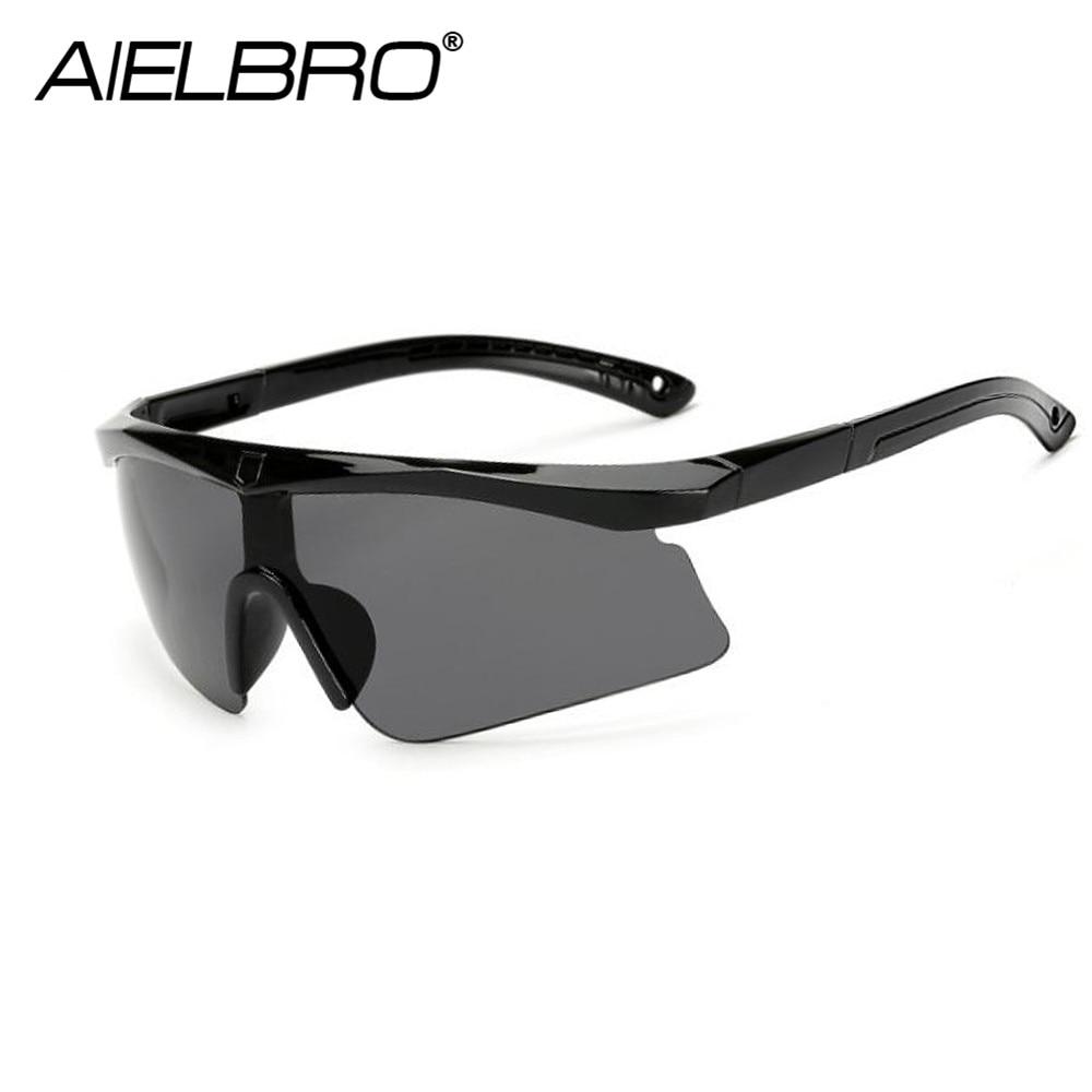 Купить с кэшбэком AIELBRO Men Sport Sunglasses Cycling UV400 Protection Golf Sun Glasses Women Driving Cycling Glasses Fishing Eyewear
