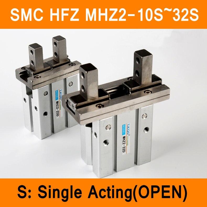 HFZ MHZ2 10 S 16 S 20 S 25 S 32 S Mini Pinças de Simples Efeito Normalmente Aberto Dedo Pneumático Tipo SMC cilindro De Alumínio Grampos