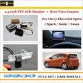 """Traseira do carro Da Câmera + 4.3 """"Monitor de Tela de LCD = 2 em 1 Backup do Sistema de Estacionamento-para chevy chevrolet optra/faísca/sonic/tosca"""
