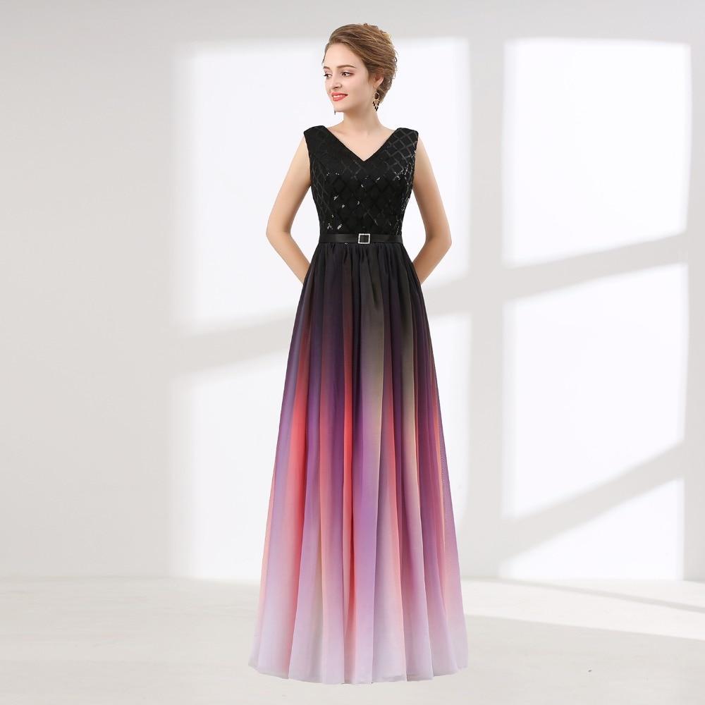 Cheap Prom Dresses Long 2018 Robe De Soiree V Neck Formal Women ...