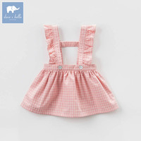 DB7372 Dave Bella Spring Infant Baby Girl S Plaid Strap Dress Birthday Party Suspenders Dress Toddler
