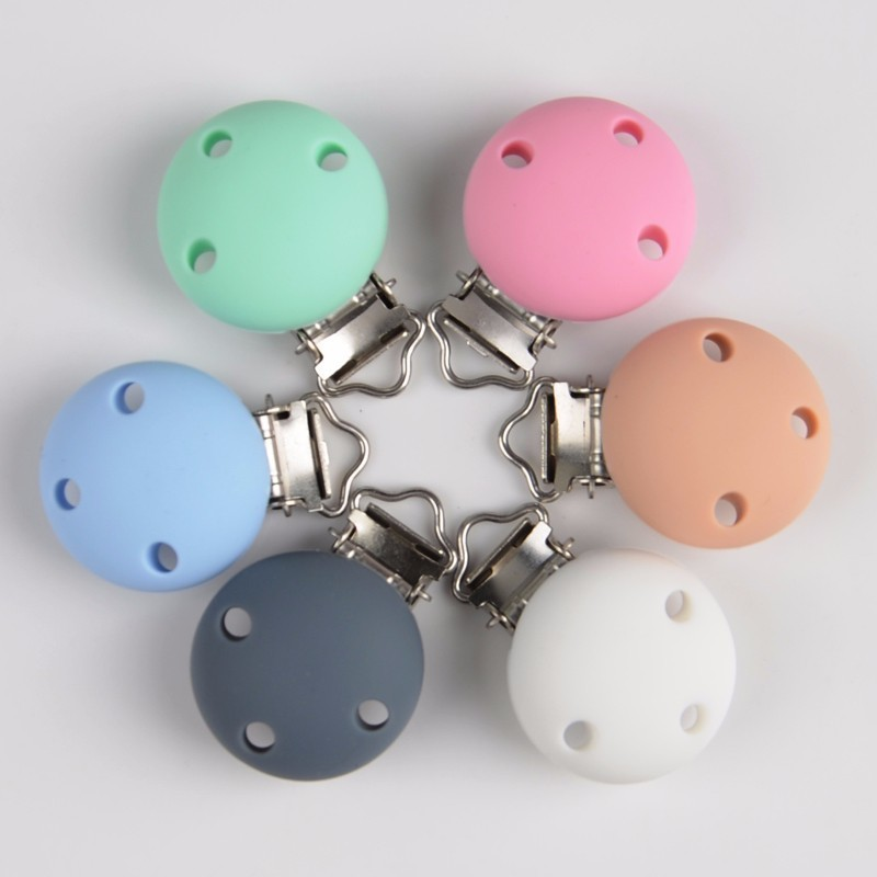 5PcsSunflower Pacifier Clip Silicone Bead Baby Teether Teething Accessories Clip