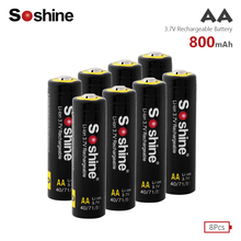 8Pcs/lot High capacitance AA 14500 battery 3.7V 800mAh rechargeable li-ion battery for Led flashlight batery Lithium battery