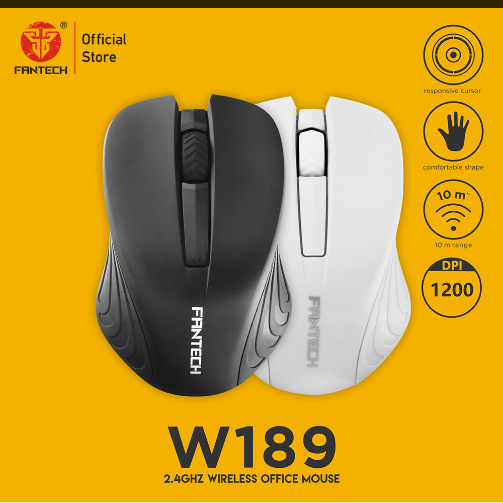 FANTECH W189 Office Wireless Mouse 1200DPI Optical High Quality Mice For PC Laptop Essential Ergonomic USB Receiver Mice-in Mice from Computer & Office