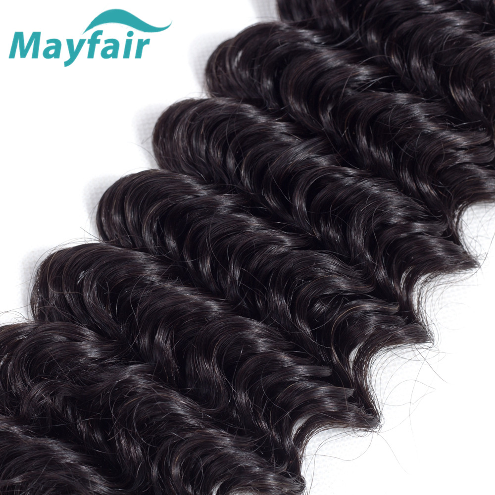 Mayfair Hair Brazilian Deep Wave With Closure Human Hair 3 Bundles With Closure Brazilian Hair Weave Bundles With Closure