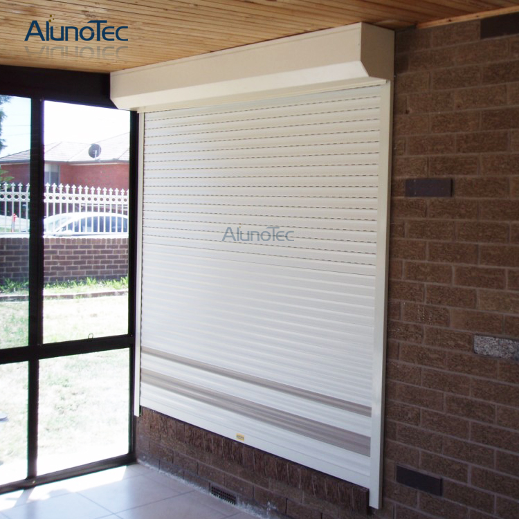 Motorized Aluminum External Rolling Shutters Remote