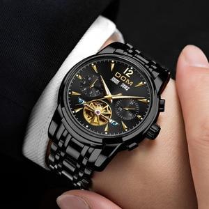 Image 4 - DOM Montre mécanique pour Homme, bracelet automatique, rétro, étanche, entièrement en acier, noir, M 75BK 1MW