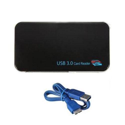 YOC 5 * vente tout en 1 USB 3.0 Micro SD TF CF XD M2 MS Multi lecteur de carte mémoire + USB 3.0 câble noir