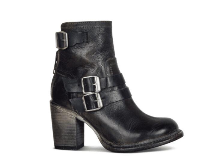 287b4e6ff Grueso Otoño Pie Mujer Botas Resbalón Y Vintage black En Apatos Mujeres  Alto Zapatos Brown Chaussure Redondo Las De Señoras Del Dedo Tacón ZCxqCAB6w