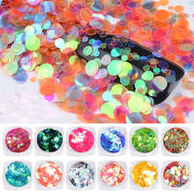 High Quality Nail Art Mini Round Thin Paillette Nail Glitter Sparkly Sequin Decorative Hot Selling Jul4 Drop Shipping MG