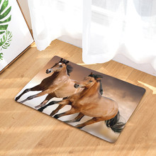 2017 New Horse Print Carpets Non-slip Kitchen Rugs for Home Living Room Floor Mats 40x60cm(China)