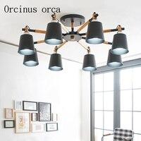 Lámpara LED para salón candelabro de habitación  minimalista  nórdico  moderno comedor  lámpara para habitación  iluminación americana