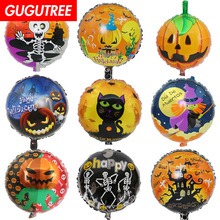 Decoration 18inch Skull Pumpkin Ghost Cats Foil 10 Pieces Balloons Wedding Christmas Halloween Birthday Party HY-286
