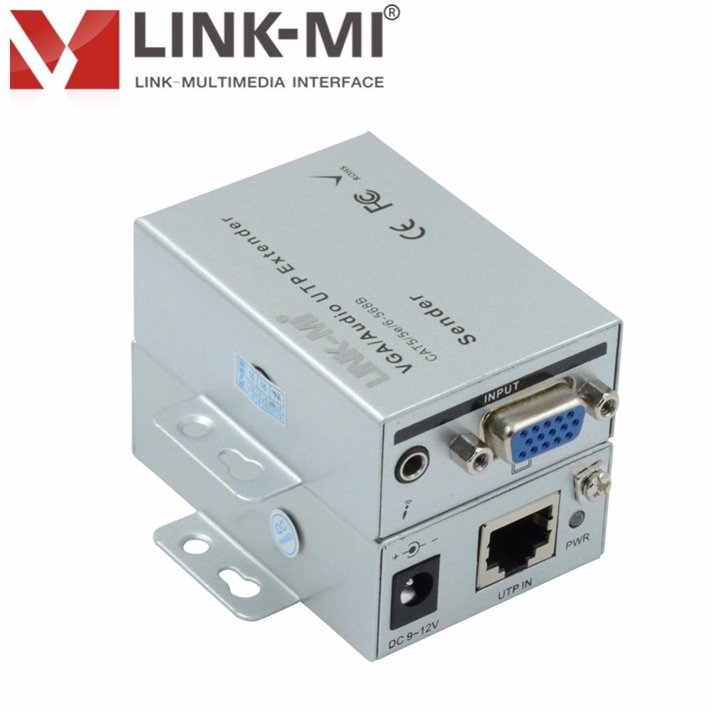 101TRSC Mini 100m VGA Network Signal Extender Sender RJ45 CAT5e/6 ...