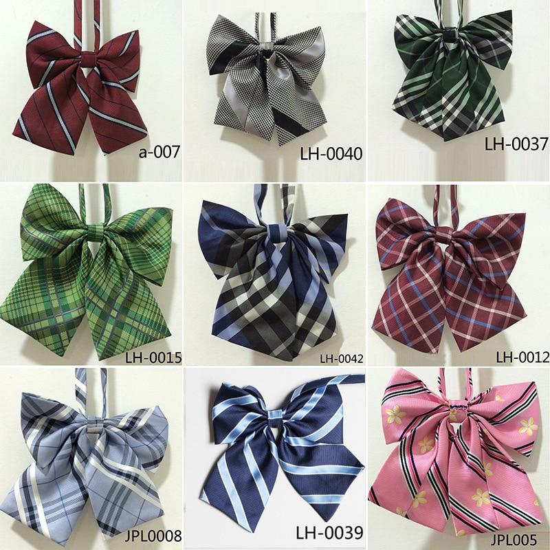 New 2019 Jk Uniform Bow Tie Embroidery Japanese/korean School Uniform Accessories Bow-knot Tie Design Cravat Necktie Adjustable