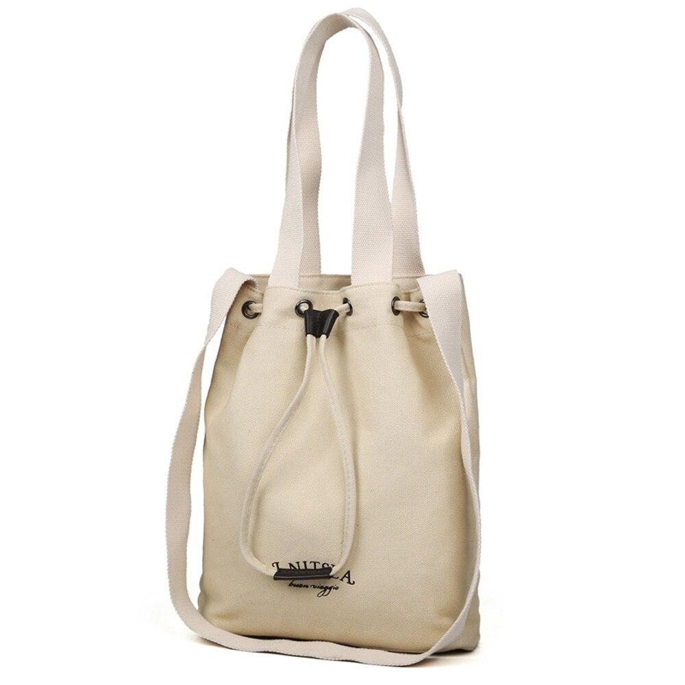 Women's Shoulder Bag Canvas Handbag Woman Girl String Durable Large Tote Shopping Messenger Bag