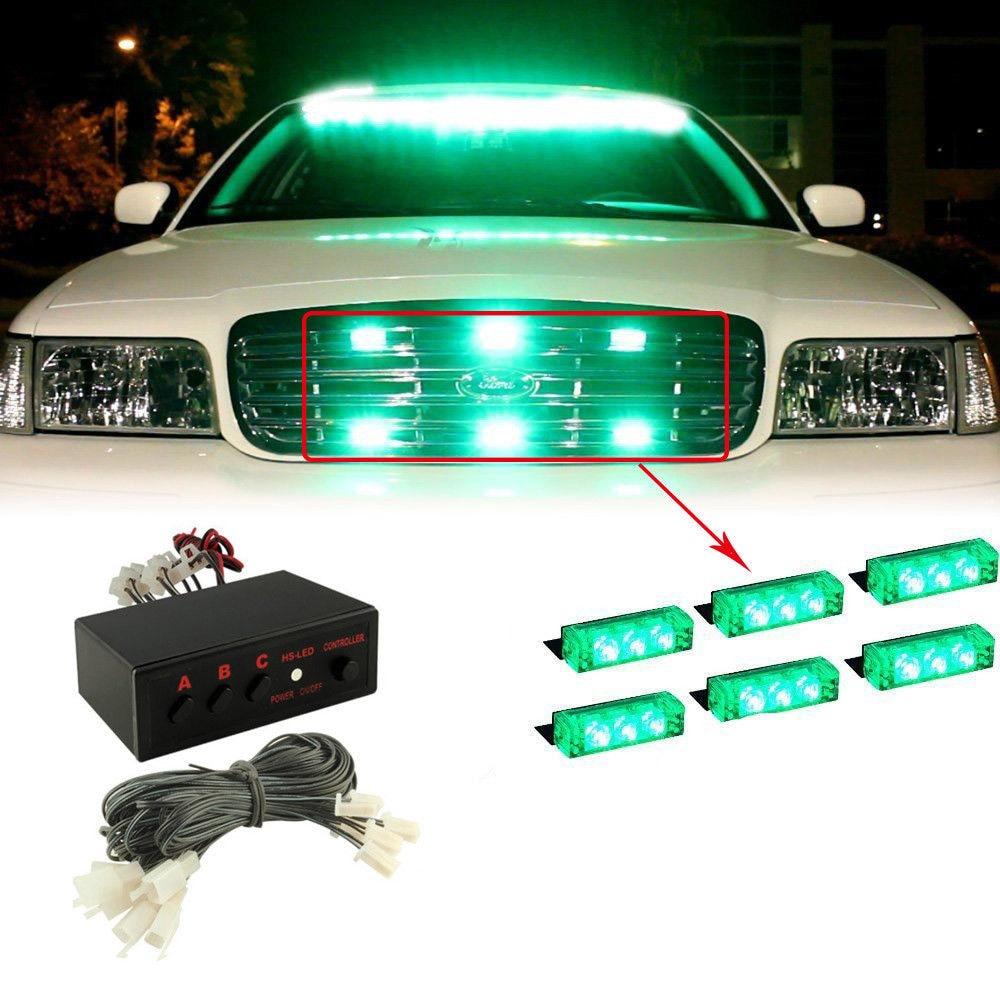 New Coming 12V 18 LED Car Strobe Dash Emergency Flashing