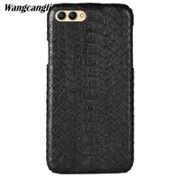 Leather python skin cover back cover For HUAWEI Honor V10 case python skin high end custom phone case For HUAWEI Honor 10