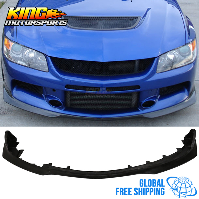 US $227 9 |FOR 2006 2007 06 07 Mitsubishi Lancer EVO 9 IX Urethane Front  Bumper Lip Spoiler PU Global Free Shipping Worldwide-in License Plate from