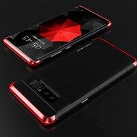 Luxo Para Samsung Galaxy Note 8 Caso 360 Proteção Integral 3in1 Alumínio de Metal + PC Rígido Híbrido Magro Tampa Traseira Para Galaxy Note 8