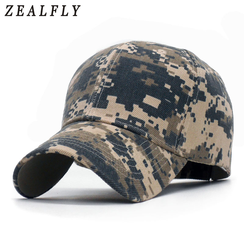 Men's Hats Fine 2018 New Men Tactical Cap Camo Baseball Caps Outdoor Sports Fishing Hunting Hat Camouflage Snapbacks Bone Camuflado Hats