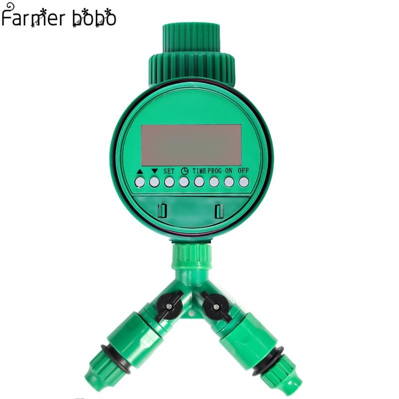 Automatique d'irrigation Arrosage minuterie numérique Y Connecteur 3/4 Externe threadquick connecteur pour 4/7 ou 8/11mm tuyau