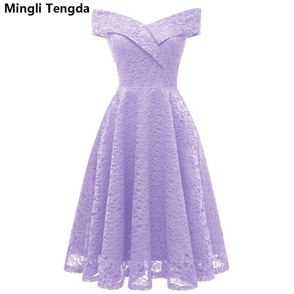 Elegant   Bridesmaid     Dress   Short Boat Neck   Dresses   for Wedding Party Simple Lace Off the Shoulder   Bridesmaid     Dresses   Mingli Tengda