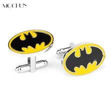 MQCHUN Hot Selling BATMAN Vintage Men Jewelry Wedding Party Batman Cufflinks Cuff Link French Shirt Brand Cuff Button Gift