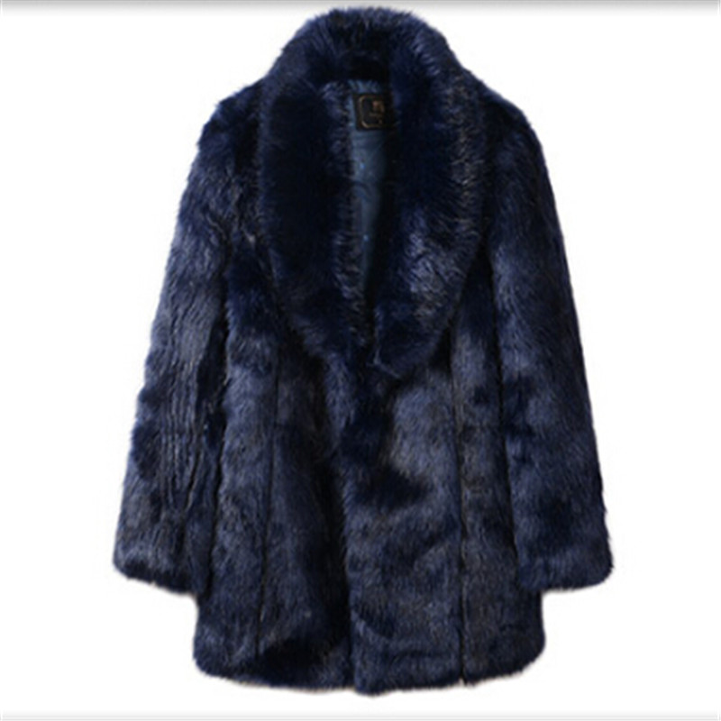 2017 Europe and the United States tide men and women new business men thickening warm fur coat long fashion big Lapel coat