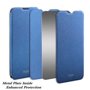Image 2 - Funda MOFi para Honor V30 V30Pro funda Huawei V30 Pro carcasa soporte TPU PU cuero libro soporte Folio vidrio