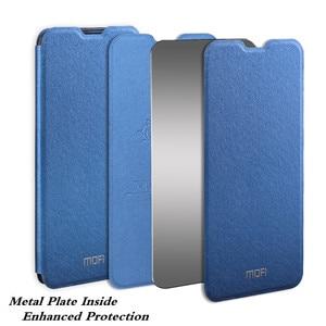 Image 2 - MOFi dla Redmi Note 8 pokrywy skrzynka dla Redmi Note 8 Pro etui na xiaomi Note8 8 Pro Xiomi obudowa TPU PU skórzany książkowy stojak Folio