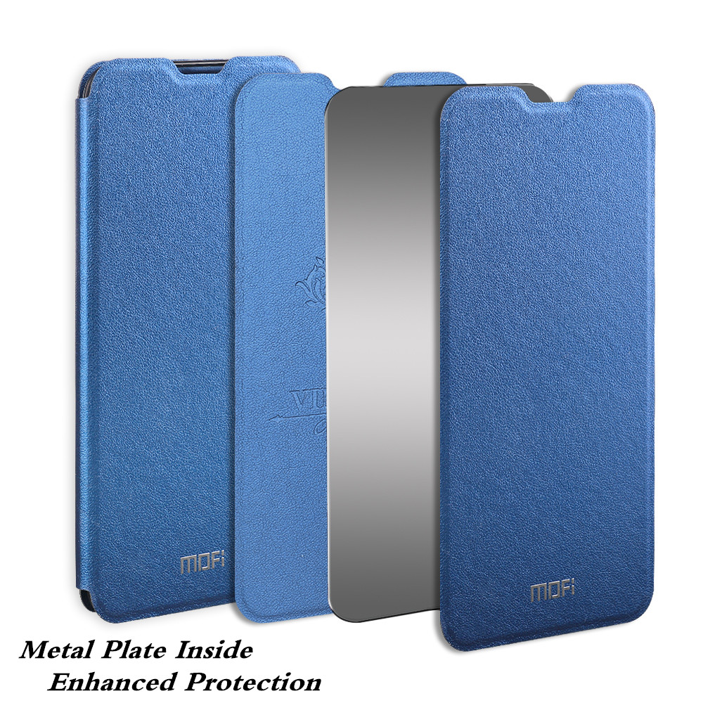Image 2 - for Redmi 7A Case MOFi Xiaomi Redmi 7A Cover for Mi 7A Flip Xiomi Housing TPU PU Leather Soft Silicone Stand-in Flip Cases from Cellphones & Telecommunications