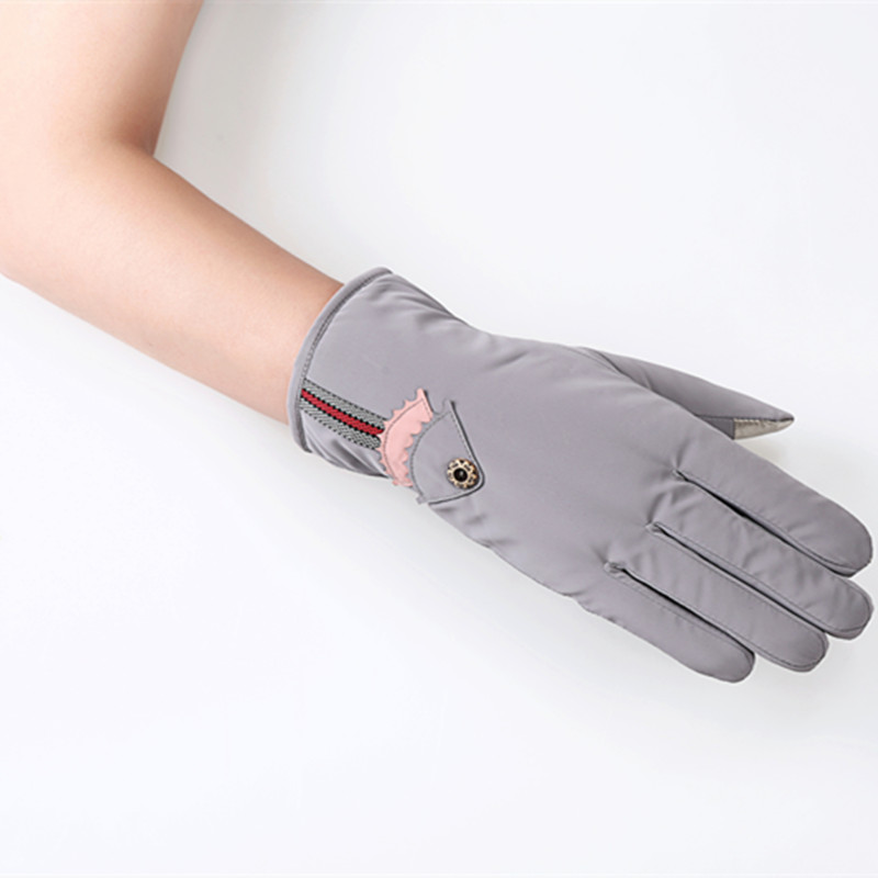 Nice Fish Female Gloves Screen Touch Wrist Glove Outdoor Full Finger Arm Warm Coldproof Windproof Rainproof Mittens 10pair