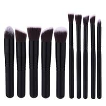 цена на 10Pcs Makeup Brush Sets Tools Cosmetic Brush Foundation Eyeshadow Eyeliner Lip Powder Brush High Quality