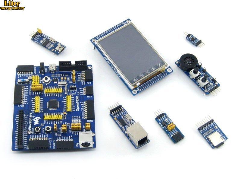 STM32 Board STM32F103RCT6 STM32F103 ARM Cortex-M3 STM32 Development Board + 6 Accessory Module Kit =Open103R Package A