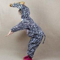 Kinderen Kids Meisjes Jongens Cartoon Dier Zebra Paard Kostuum Cosplay Jumpsuit kinderen Dag Halloween Kostuums