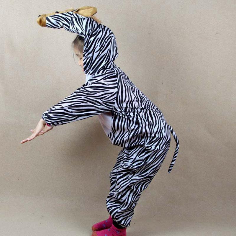Umorden Kanak-kanak Kanak-kanak Gadis Gadis Boys Kartun Haiwan Zebra - Kostum karnival - Foto 1