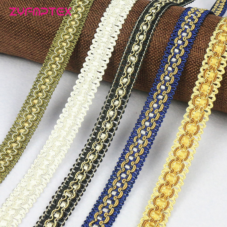ZYFMPTEX 1.8cm/2.5cm High-grade Polyester Hook Gemstone Gauze DIY Decoration Ribbon Lace National Style Lnelastic Lace Fabric