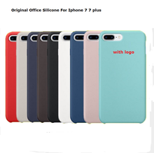 Original Office Silicone Case For iPhone  7 7plus 5.5″ 6 6S 5 5s SE Plus Luxury Brand Ultra Thin Phone Cover coque With Logo