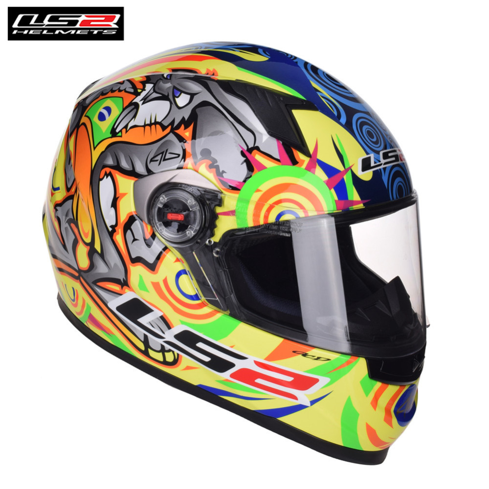 2018 Full Face Motorcycle Helmet LS2 FF358 Capacete Casco Casque Moto Kask Helmets Helm Caschi For Kawasaki Motorsiklet original ls2 ff353 full face motorcycle helmet high quality abs moto casque ls2 rapid street racing helmets ece approved