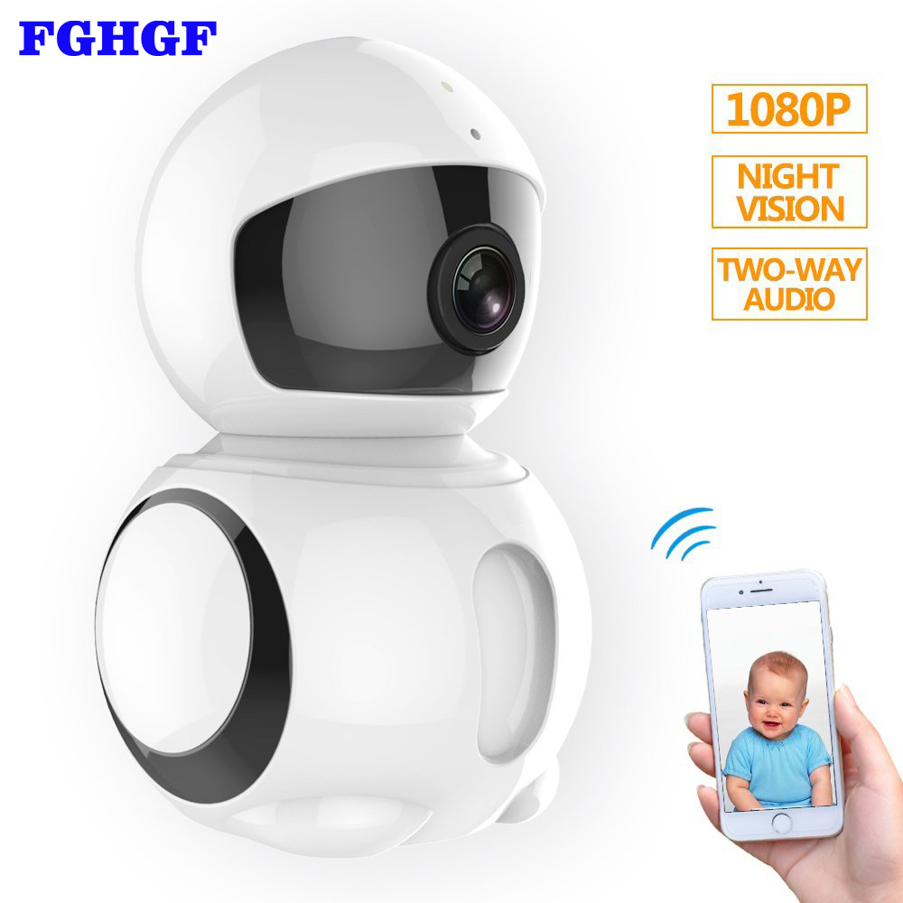 FGHGF Wireless Ip Camera Baby Monitor 1080P HD Wifi Robot CCTV Camera With Infrared Night Vision Motion Detection Wifi Ip Camera howell wireless security hd 960p wifi ip camera p2p pan tilt motion detection video baby monitor 2 way audio and ir night vision