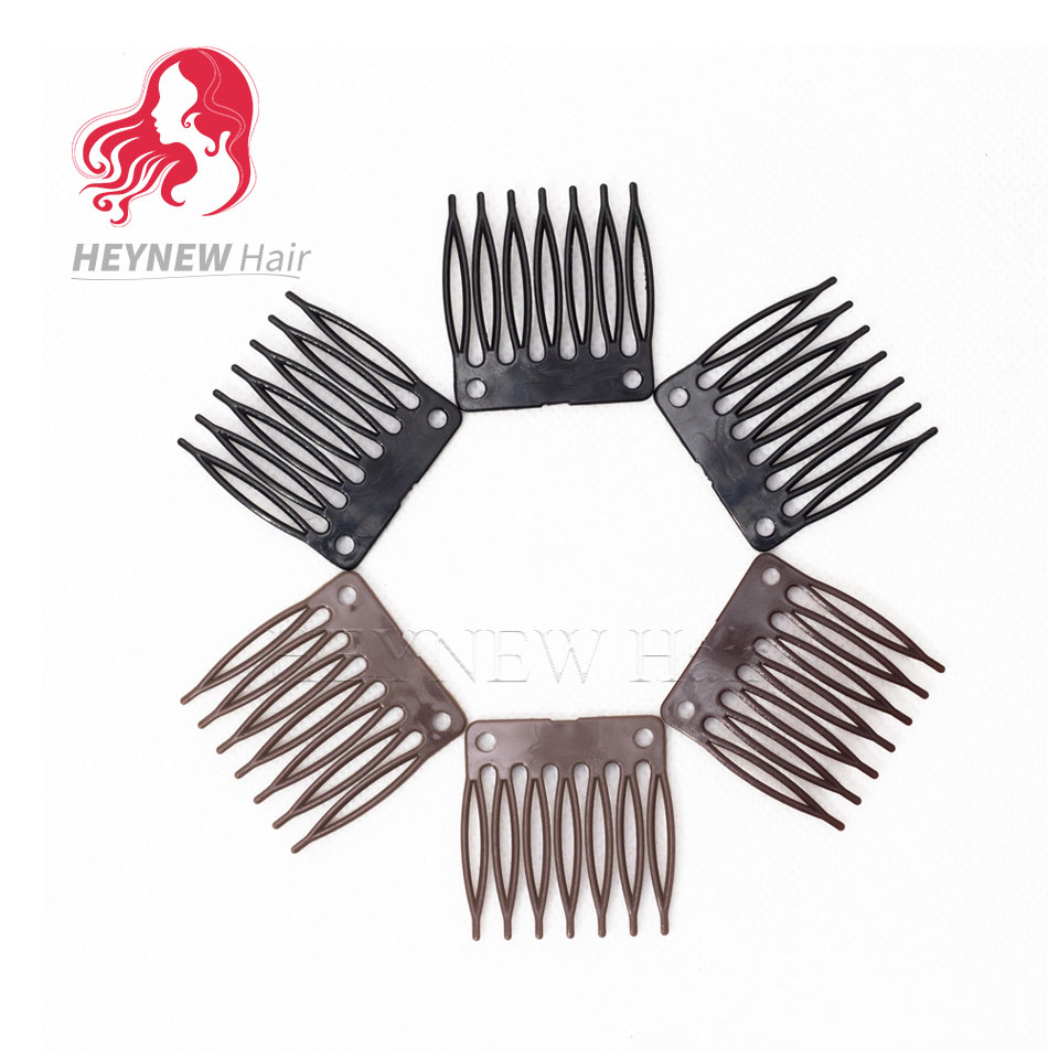 Wholesale Plastic Wig Clips And Combs For Making Wigs Full Lace and Lace Front Black/Brown Color Wig Snap Clips 150PCS