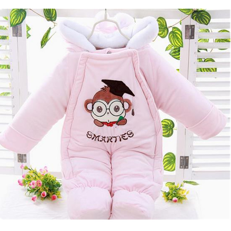 2018 Spring winter Warm Baby Girl Boy Rompers Cotton Snowsuit Hoodies Newborn Overalls Clothes Kids Children Jumpsuit B0266 cotton baby rompers set newborn clothes baby clothing boys girls cartoon jumpsuits long sleeve overalls coveralls autumn winter