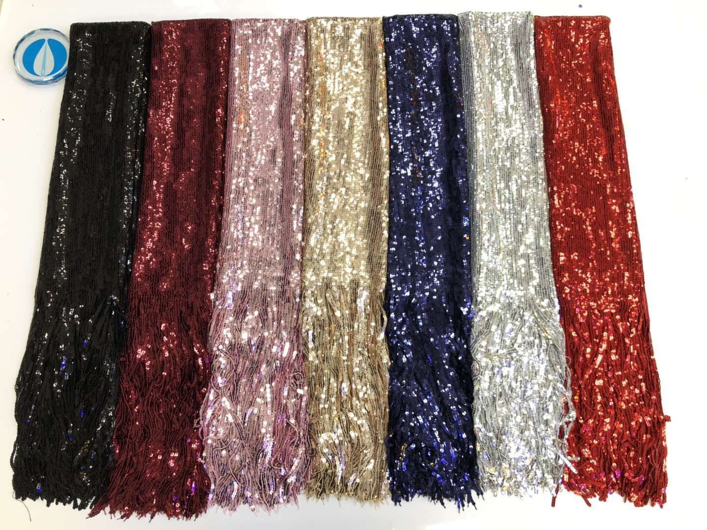 BEAUTIFICAL nigerian lace fabrics 5 yards sequin lace fabric heavy tassel lace 2019 high quality free shipping for party ML1N744-in Lace from Home & Garden    2