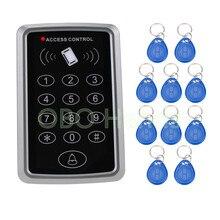 Горячая! RFID Бесконтактный контроль доступа с цифровой клавиатурой support1000 пользователей+ 10 брелков для RFID система контроля допуска к двери