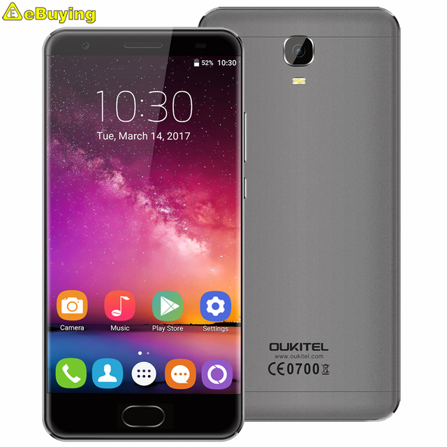 "OUKITEL K6000 PLUS Smartphone Android 7.0 MTK6750 Octa Core 5.5"" FHD Screen 4GB RAM 64GB ROM 16MP 6080mAh 4G Mobile Phone"
